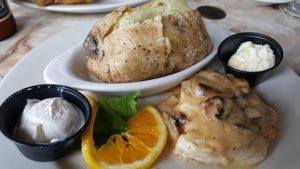 Chicken Marsala at Benjamin's Roadhouse in Franklin, Pa