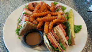 Club Sandwich at Benjamin's Roadhouse in Franklin, Pa