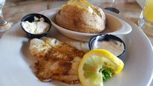Fish Dinner at Benjamin's Roadhouse in Franklin, Pa