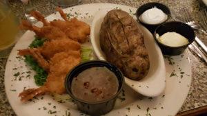 Shrimp Dinner at Benjamin's Roadhouse in Franklin